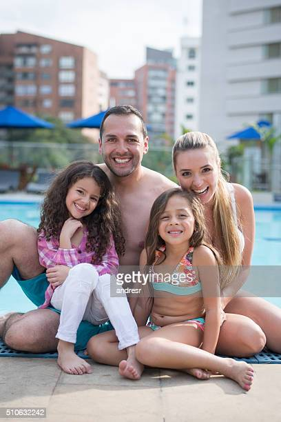 Happy family enjoying their summer holidays