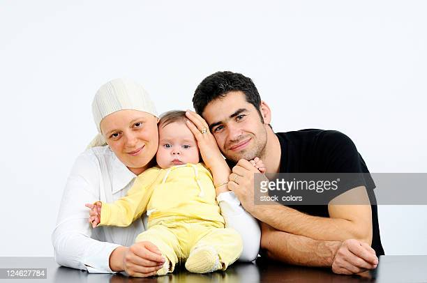 Happy family fighting cancer