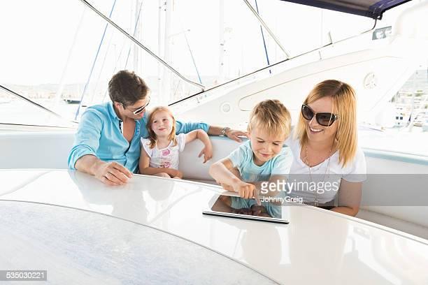 Happy Family On Boat