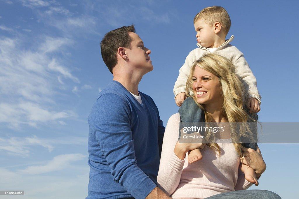 happy family outdoors : Stock Photo