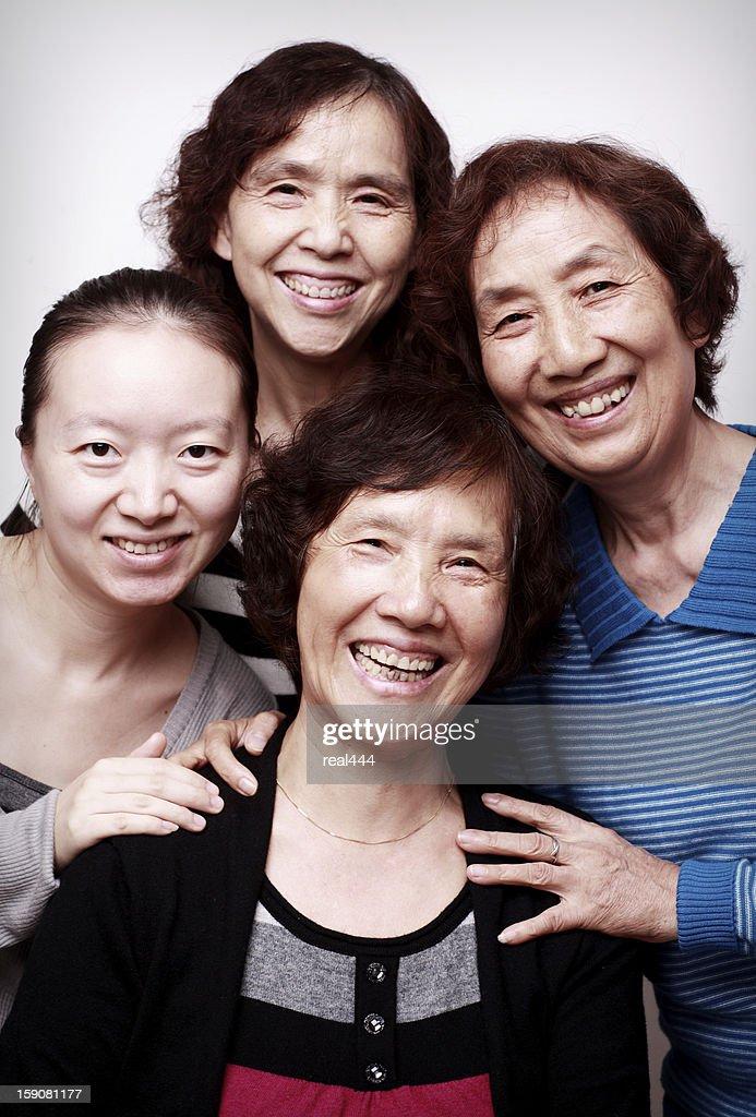 Happy family smiling : Stock Photo