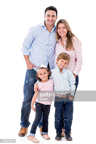 Happy family smiling