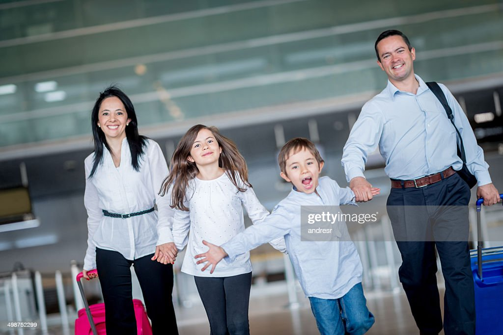 Happy family traveling : Stock Photo