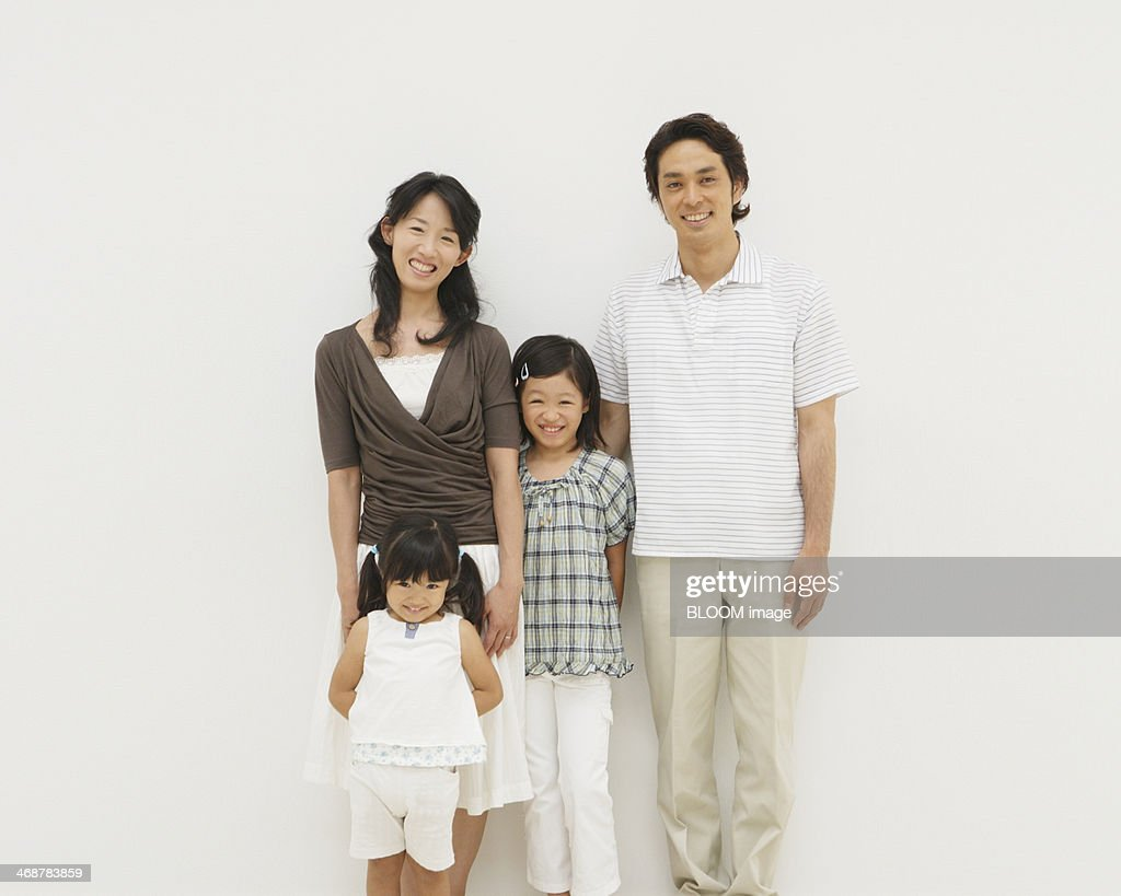 Happy Family With Two Children : Stock Photo