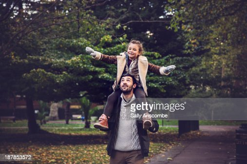 Happy Father and Daughter in the park : Stock Photo