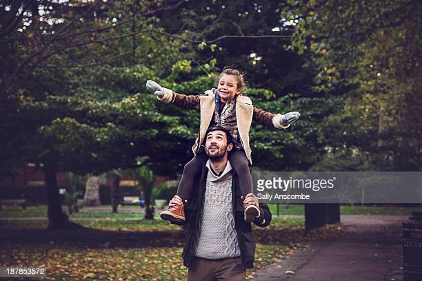 Happy Father and Daughter in the park