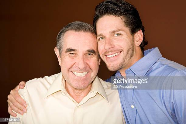 Happy Father and Son Close