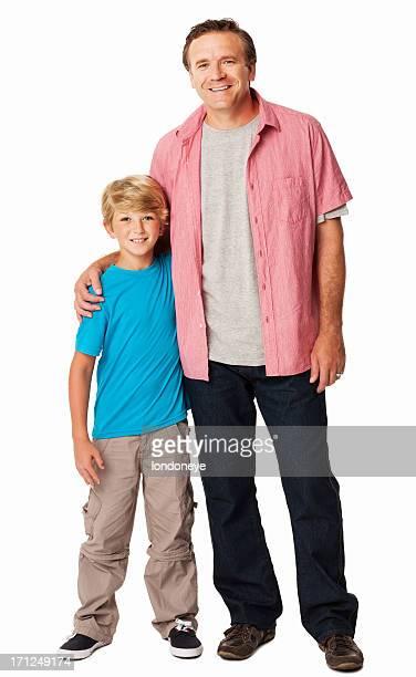 Heureux père et fils-isolé