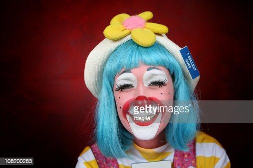 Happy Female Clown
