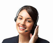 Happy Female IT Technical Support Officer - Isolated
