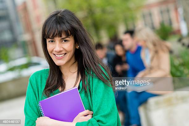 Happy female student