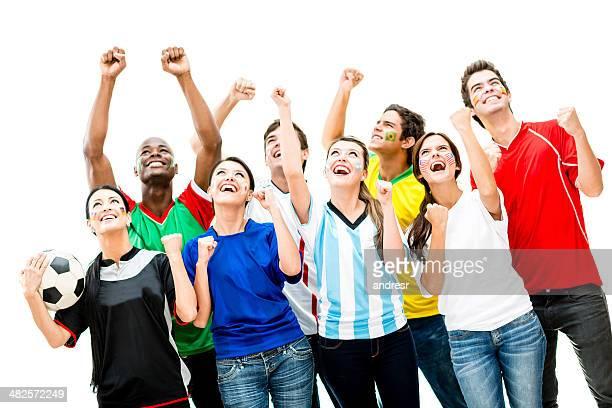 Glücklich Fußball-fans