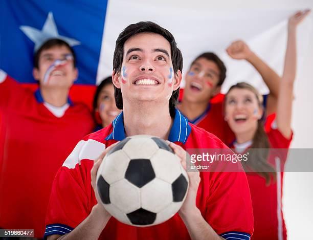 Feliz los aficionados al fútbol