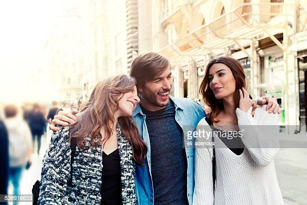Heureux amis à Istanbul.