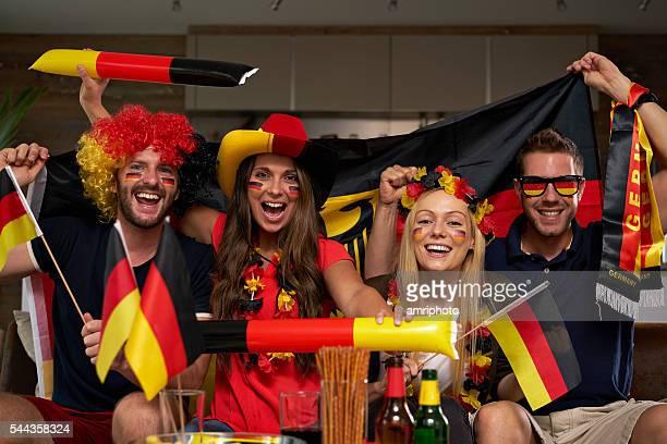 glücklich deutschen fans