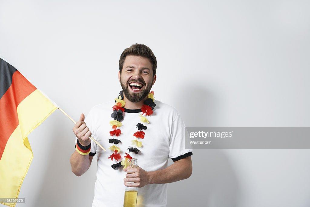 Happy German soccer fan