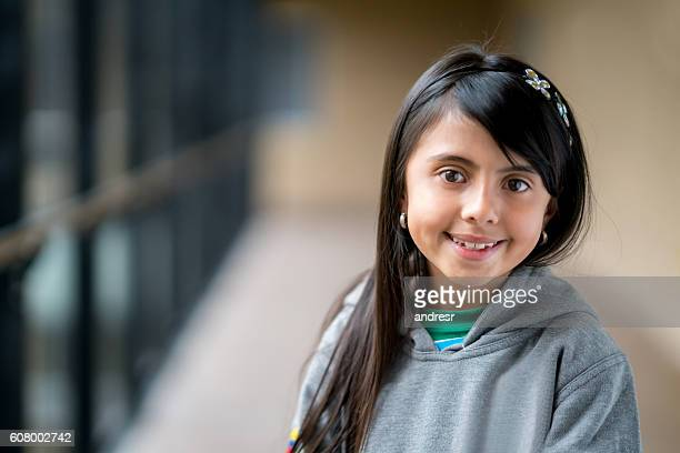 Happy girl at the school