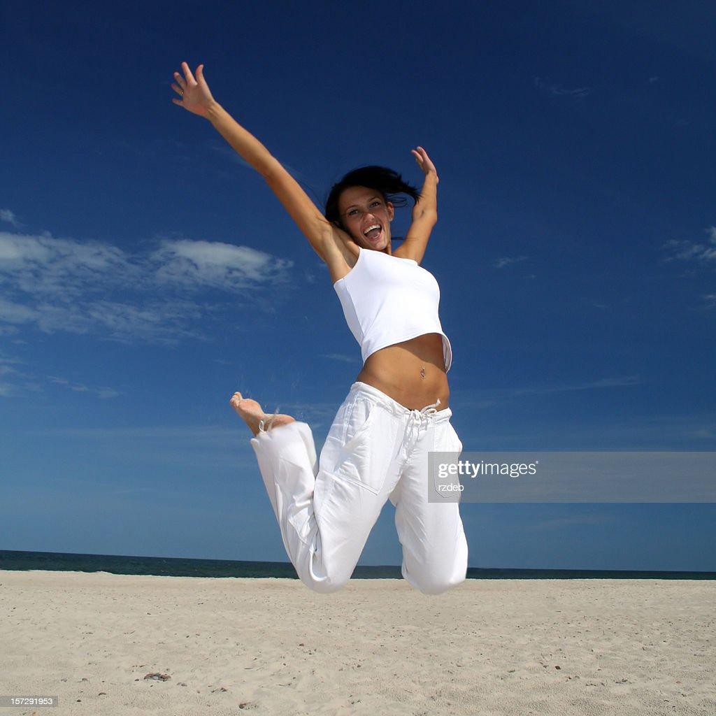 Happy girl on the beach!