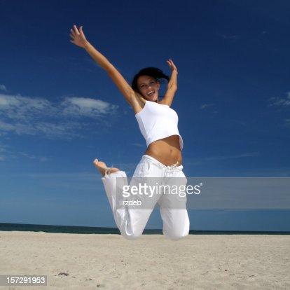 Glückliche Mädchen am Strand!
