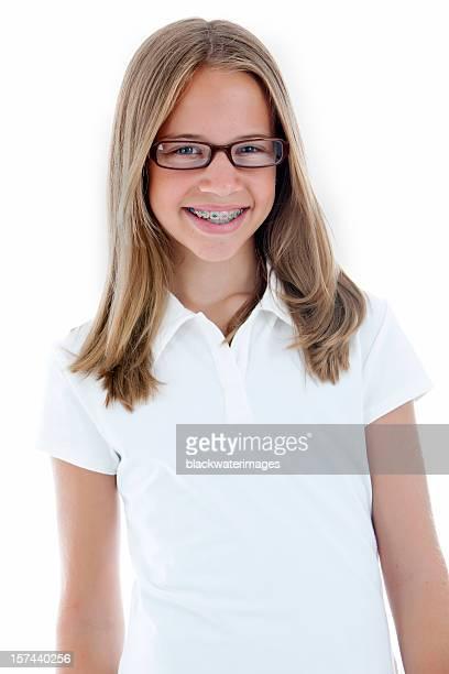 Glücklich Mädchen Lächeln