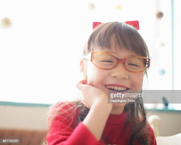 Happy Girl Wearing Eyeglasses
