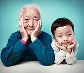 Happy grandma and her Grandson