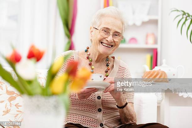 Sweet Old Lady Stock Photos And Pictures Getty Images