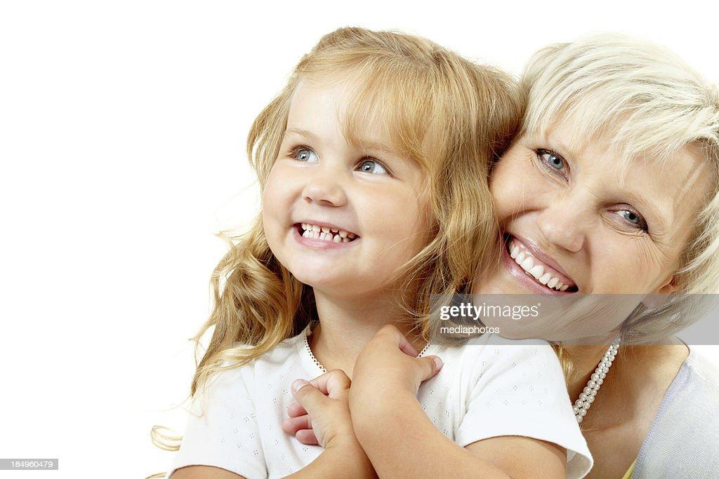 Happy grandmother : Stock Photo