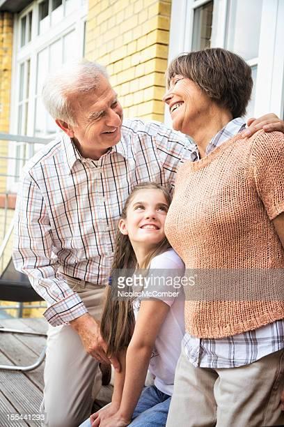 Happy Grandparents on the balcony