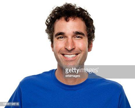 Happy Grinning Man Portrait