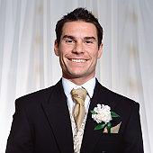 A happy groom