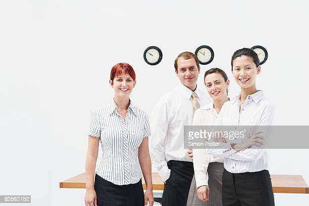 Happy group of business people