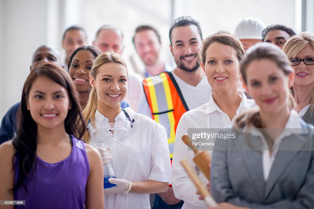 Happy Group of Professional Workers : Stock Photo