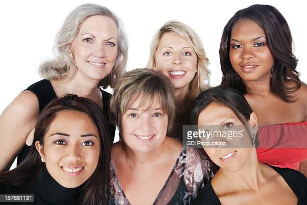 Happy Group of Women Closeup