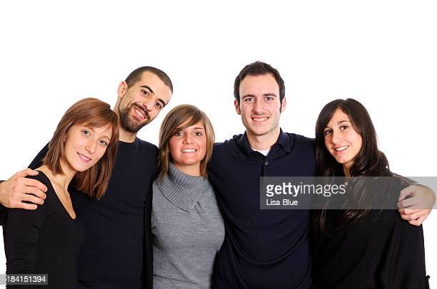 Happy Group of Young People,Family or Team,Isolated