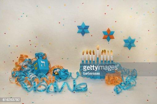 Feliz Hanukkah : Foto de stock