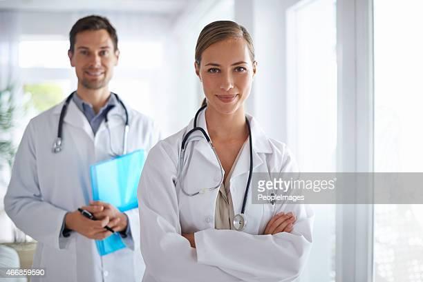 Happy health team