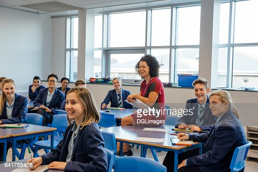 Happy High School Lesson : Stock Photo