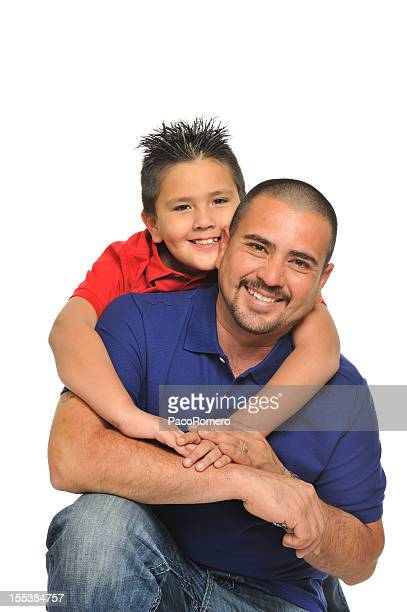 Happy Hispanic father and his child