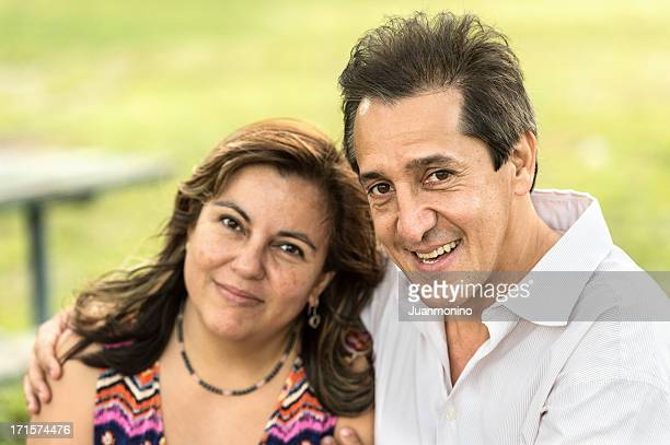 Happy Hispanic Mature Couple