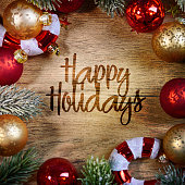 Happy Holidays, Christmas and New Year background