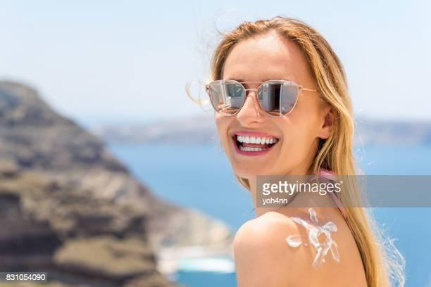 幸せな休日・健康的な日光浴