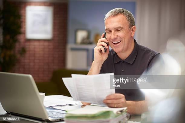 happy homeworker