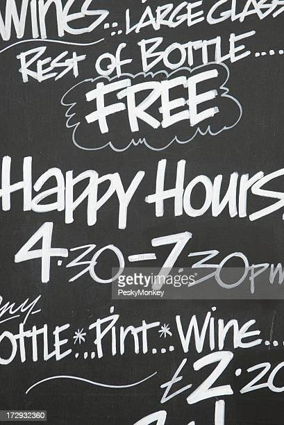 Happy Hours Chalkboard