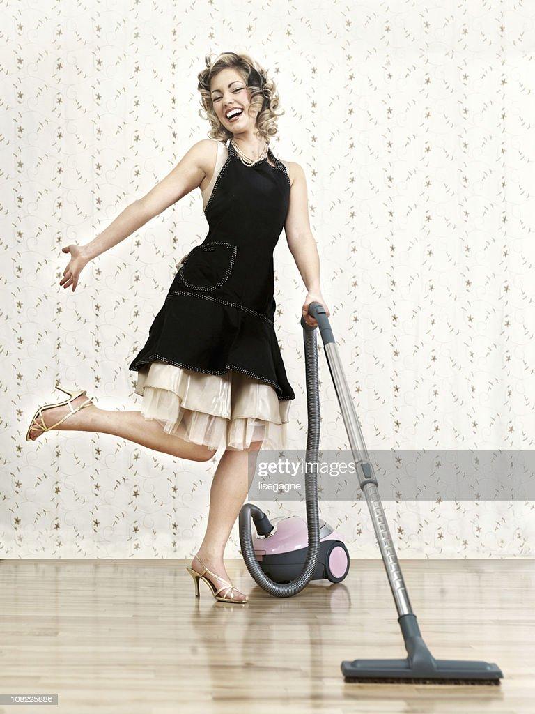 Happy housewife : Stock Photo