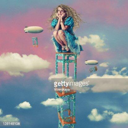 happy in heaven : Stock Photo