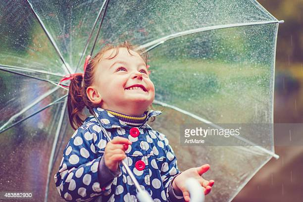 Happy in rain