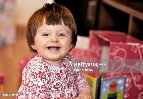 Happy kid playing : Stock Photo