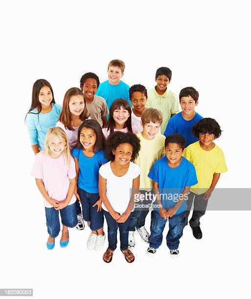 Glückliche Kinder in eine Gruppe
