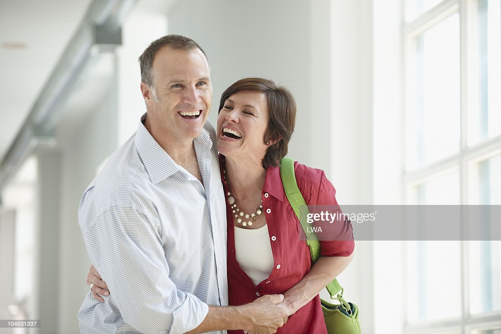 Happy, Laughing Couple : Stock Photo